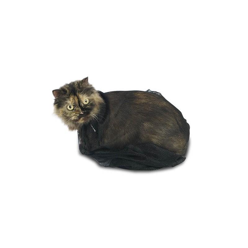 Bolsa de malla para el aseo de gatos for Red transparente para gatos
