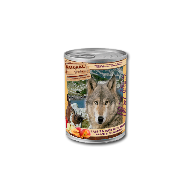Conejo y Pato - Alimento completo (PERRO) - NATURAL GREATNESS