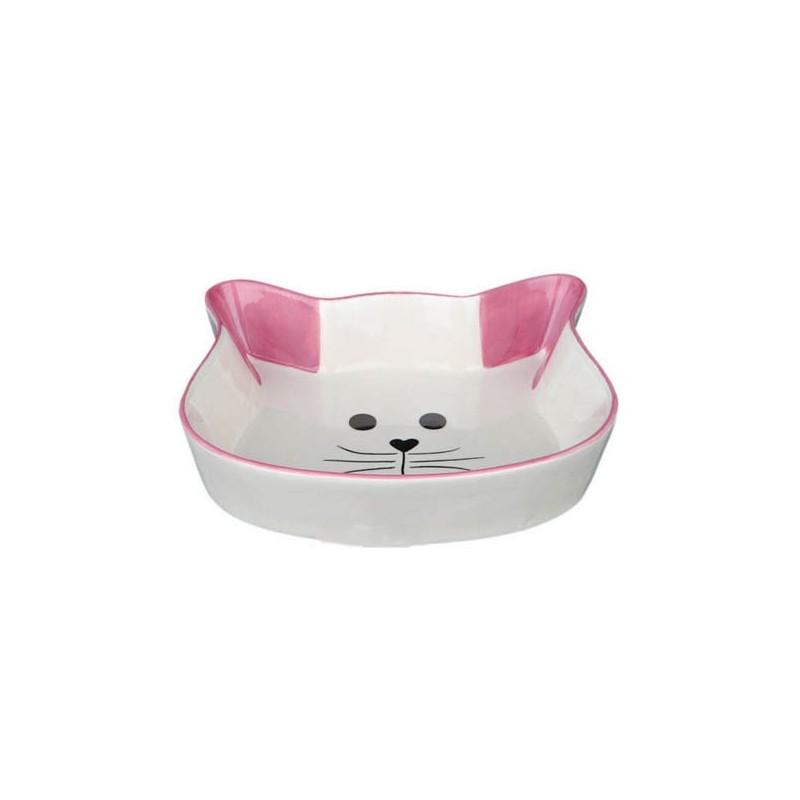 Comedero Cerámica Cara de Gato - Trixie