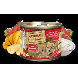 Pollo con yogurt, plátano y fresas - Alimento completo (GATO) - NATURAL GREATNESS