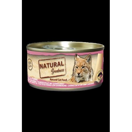 Filete de atún con gambas - Alimento complementario (GATO) - NATURAL GREATNESS